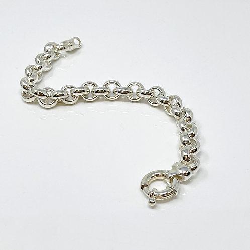 Lady's Sterling Silver Rolo Link Bracelet