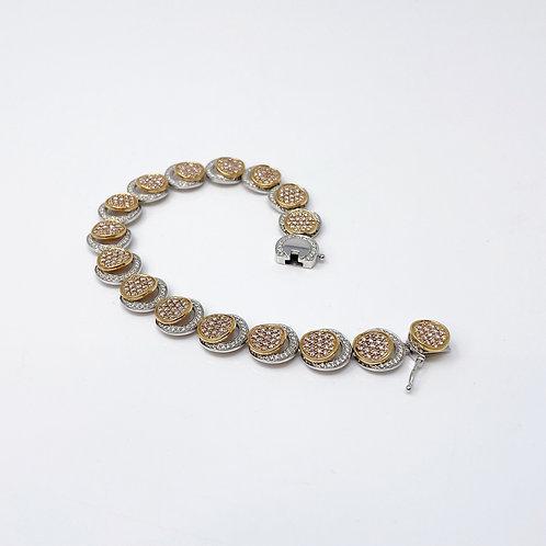 Lady's Rose & White Gold Bracelet