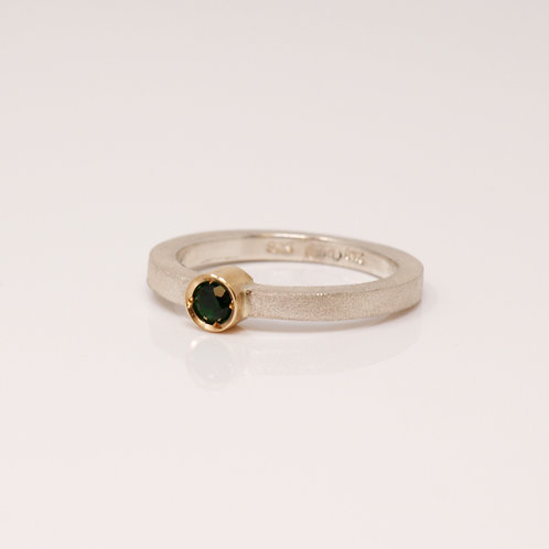 Wong Ken's Sterling Silver and Tsavorite Garnet Ring