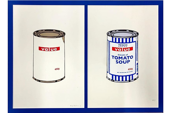 「Soup Can (Diptych)」