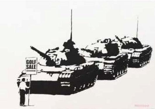 バンクシー「GOLF SALE」