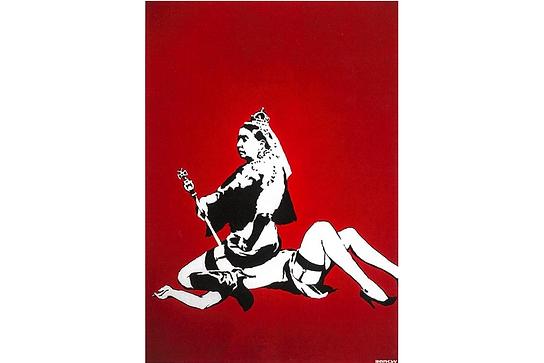 バンクシー「Queen Vic」