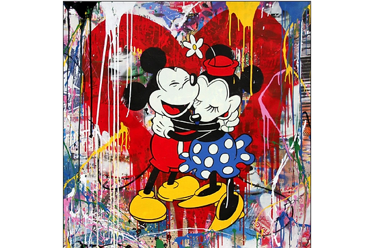 Mr.Brainwash「Mickey & Minnie」