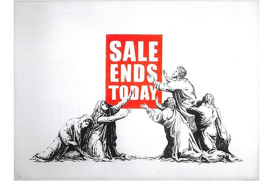バンクシー「Sale Ends」
