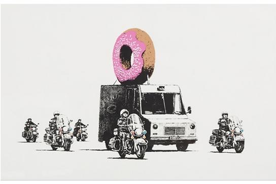 バンクシー「Strawberry Donut」