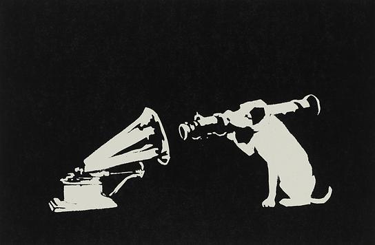 バンクシー「HMV Dog」