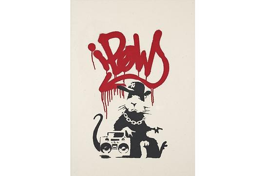 バンクシー「Gangsta Rat」