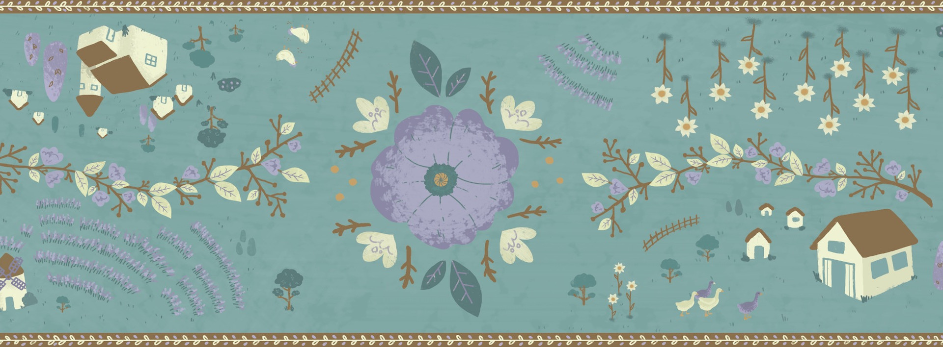 Provence Tea Party Runner