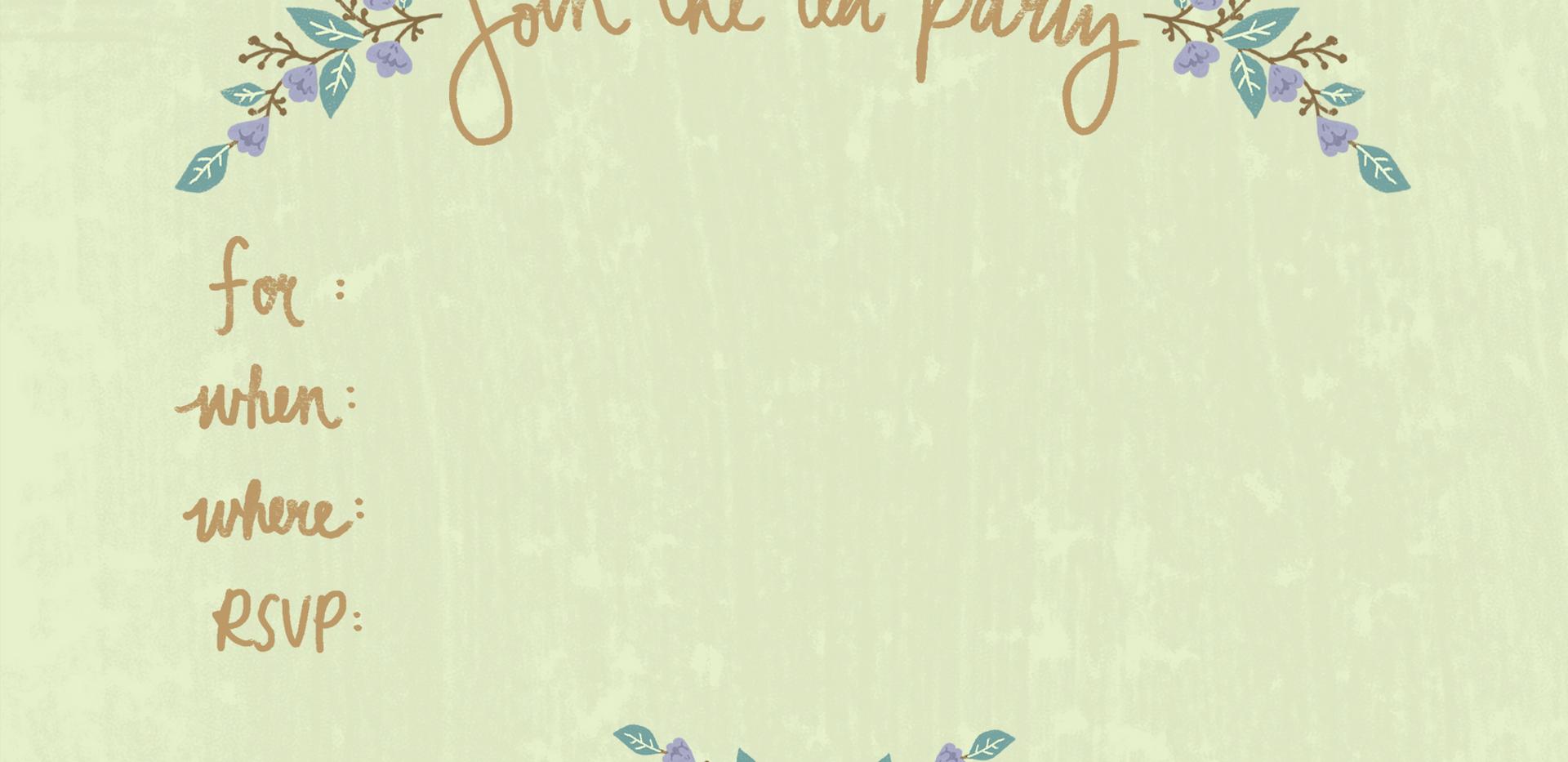 Provence Tea Party Invite