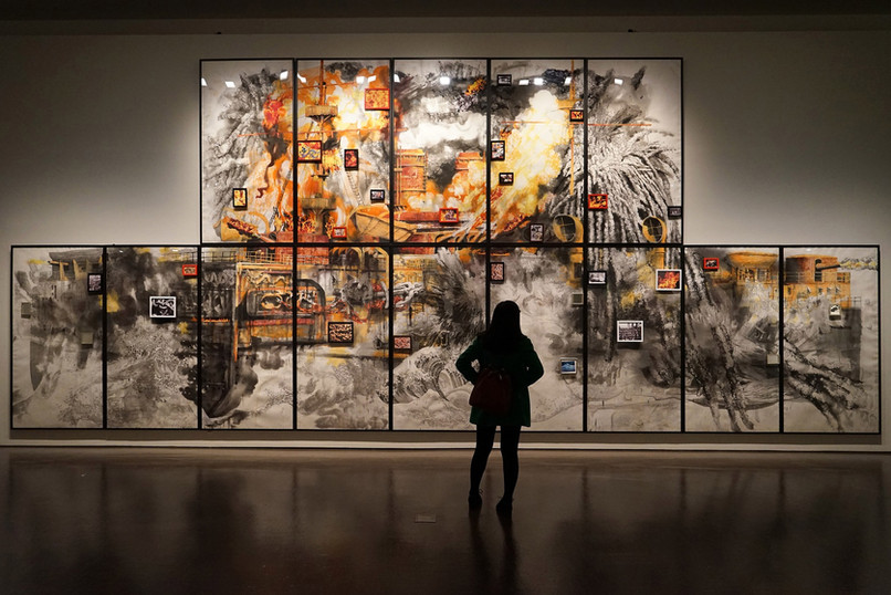 canvas broken image photo wall