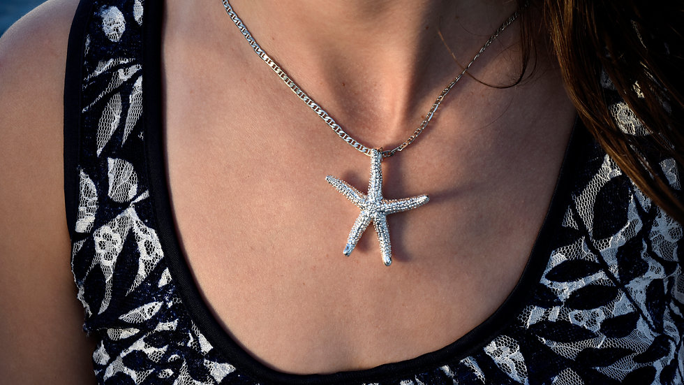 Medium Starfish Sterling Silver