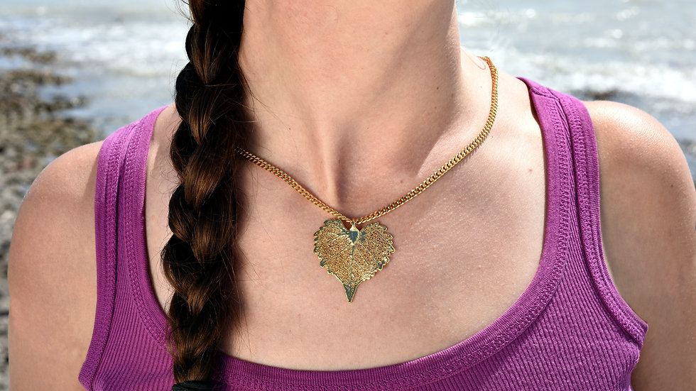 Cottonwood Leaf 24k