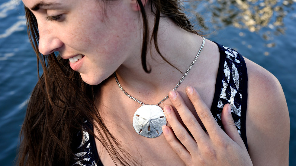 Large Sterling Silver Sand Dollar