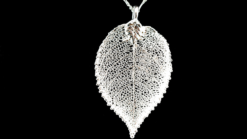 Rose Leaf Sterling Silver