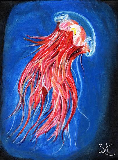 Lion's Mane Jellyfish Acrylic