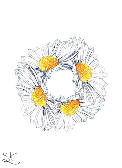 Daisy Circle Card