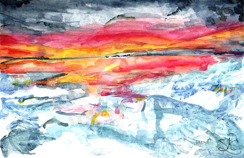 Icescape Watercolour