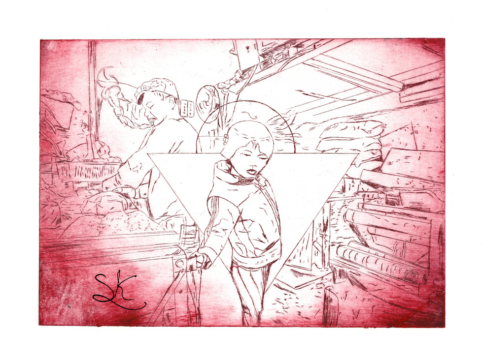 Kowloon boy red etching.jpg