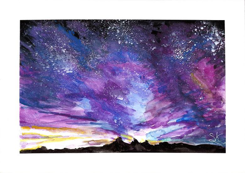 Night Sky Gouache