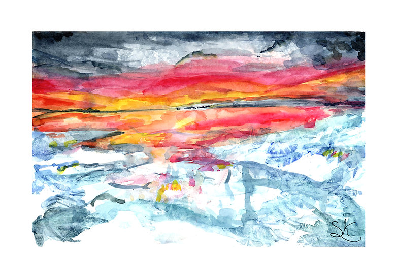 Icescape Signed Print
