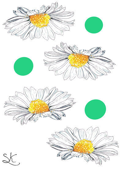 Daisy and Spots Card