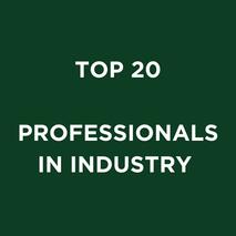 TOP 20 PROFESSIONALS IN INDUSTRY