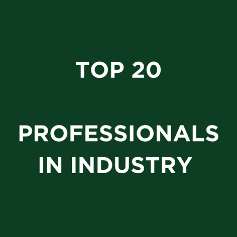 TOP 20 PROFESSIONALS IN INDUSTRY