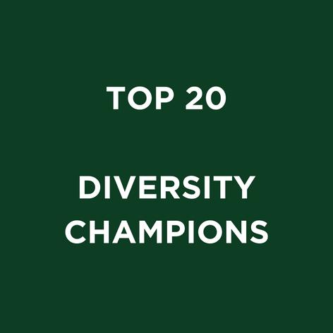 TOP 20 DIVERSITY CHAMPIONS