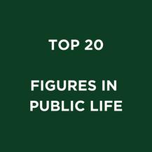 TOP 20 FIGURES IN PUBLIC LIFE