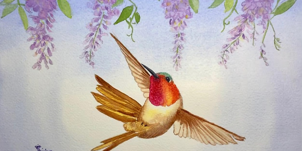 Hummingbird Watercolor Workshop with Jill Erickson