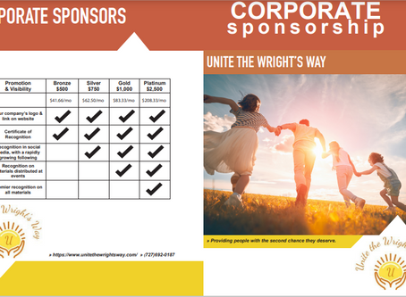 Looking to become a corporate sponsor!