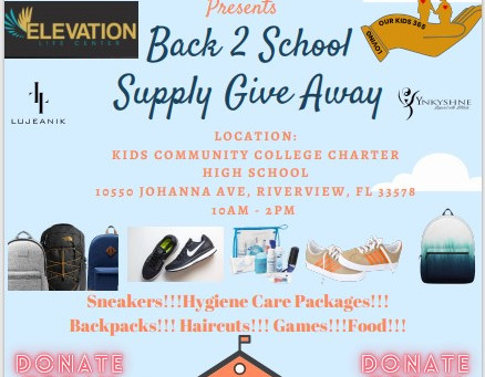 Back 2 School Give A Way 7/24/21 10am - 2pm