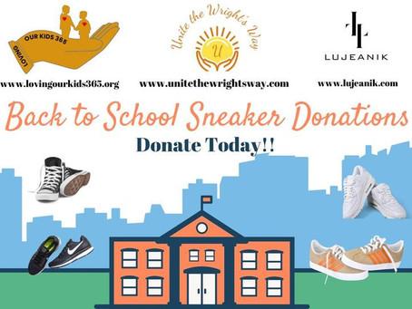 Back to School Sneaker Drive!!!