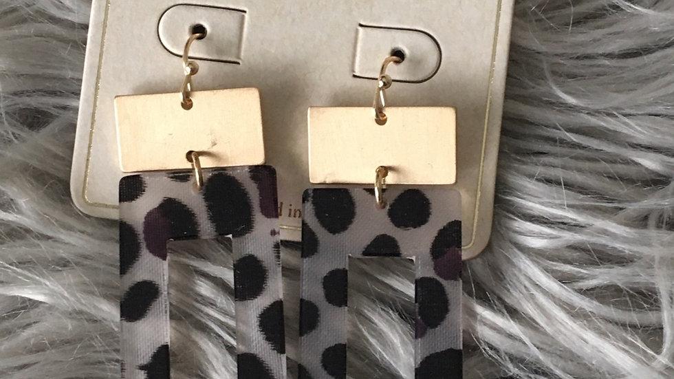 Black leopard earrings