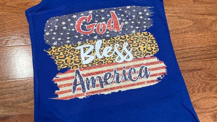 God Bless America tank