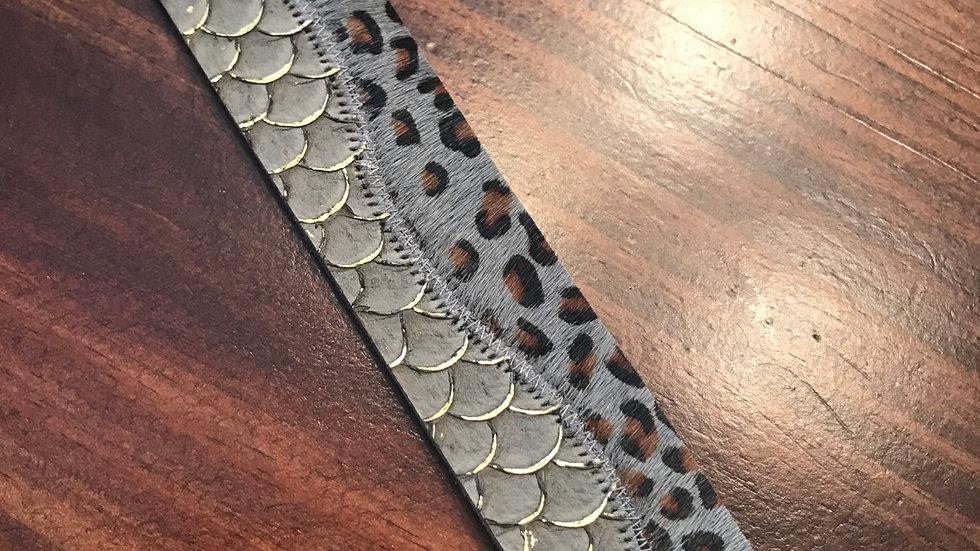Gray magnetic cuff bracelet