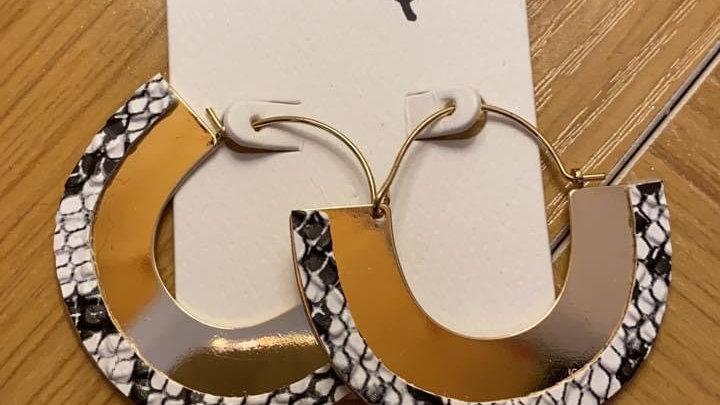 Gold trimmed snake hoops