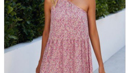 One strap floral dress