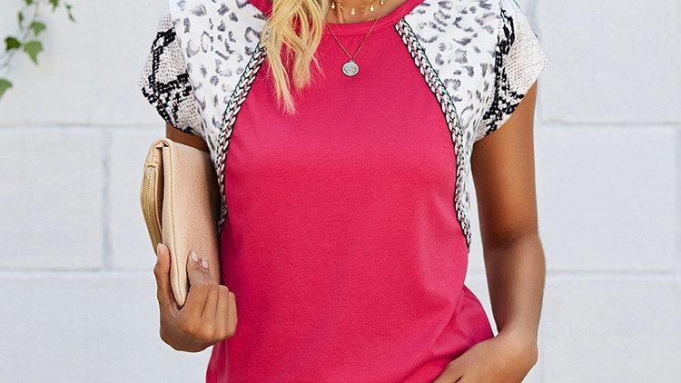 Pink mixed sleeve tshirt