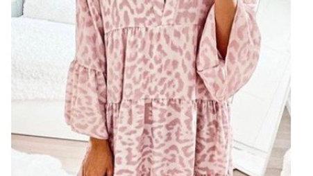 Pink leopard dresses