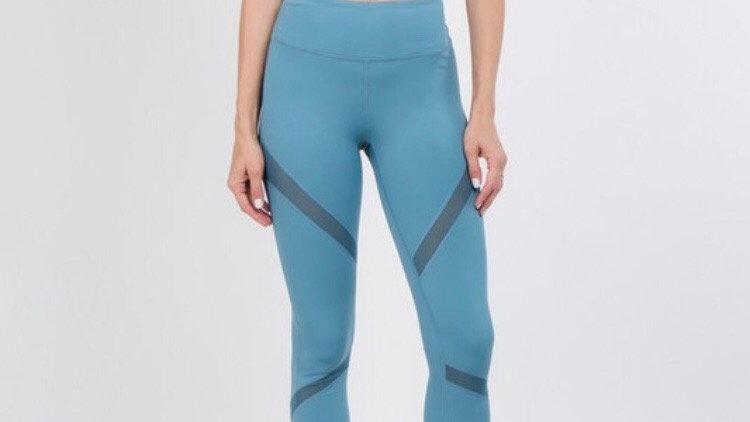 Slate blue workout leggings