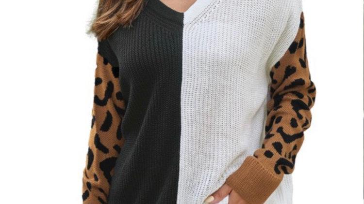 Camel Leopard sweater
