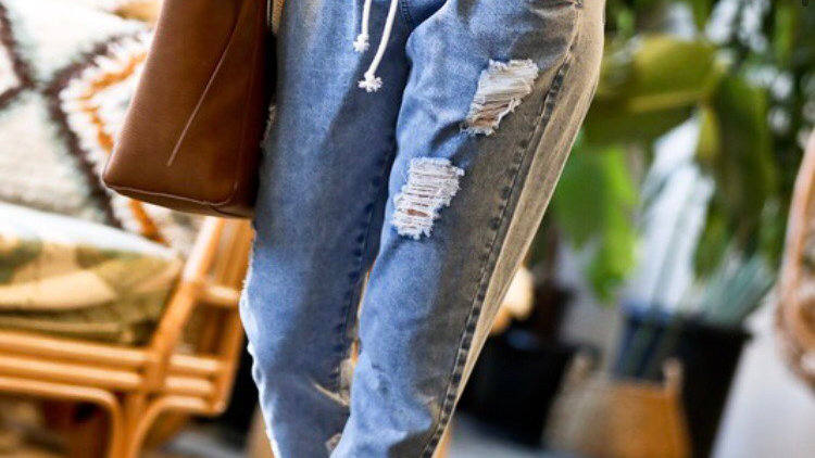 Distressed joggers