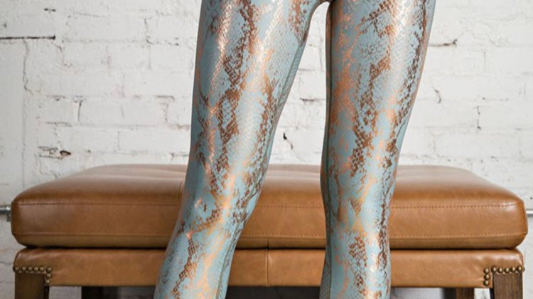 Antique sage and rose gold active leggings