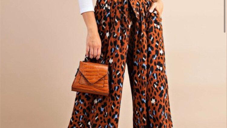 Terracotta high waisted pants
