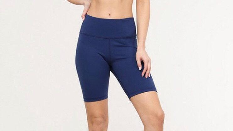 Navy workout shorts
