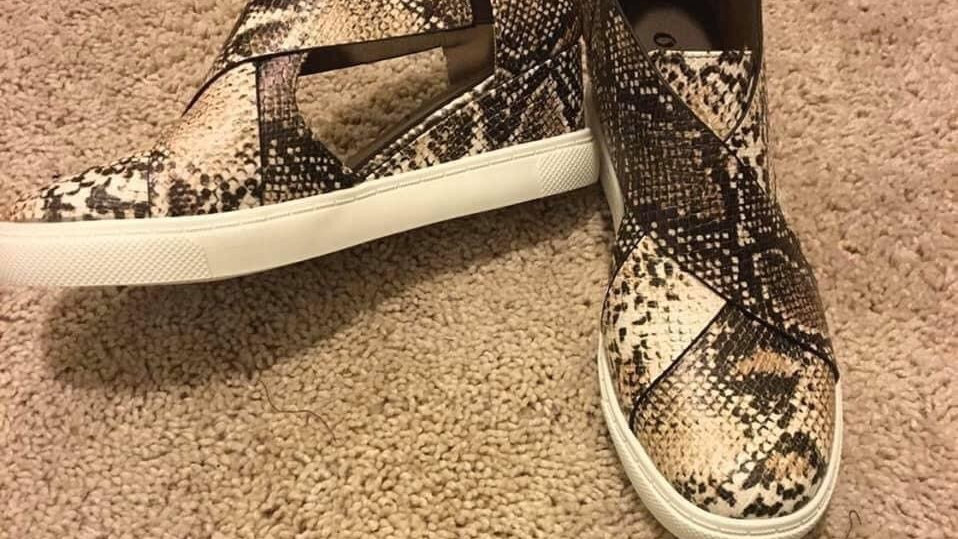 Cut out snake sneakers