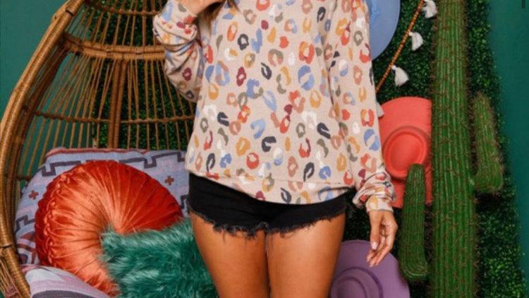 Multi leopard sweatshirt