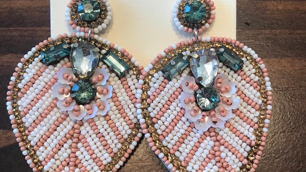 Light pink beaded/gem