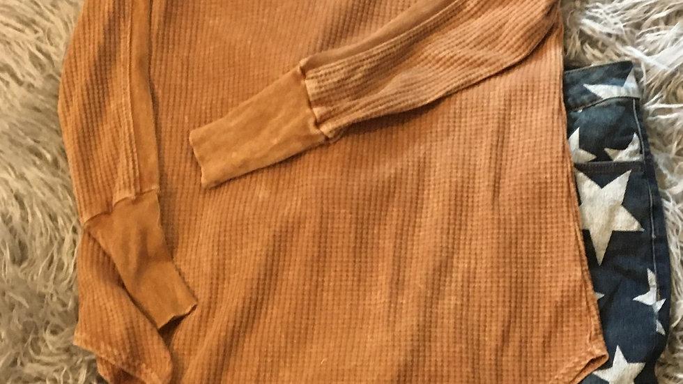 Tan waffle long sleeve